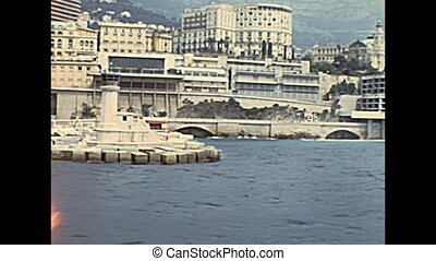 Monte Carlo port - Historic restored footage on 1960s of...