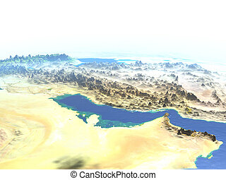 Persian Gulf on planet Earth