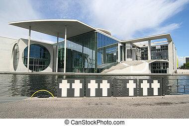 Berlin Bundestag - Berlin. New Bundestag buildings and...