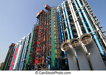 Centre Pompidou - The Pompidou cultural center in Paris
