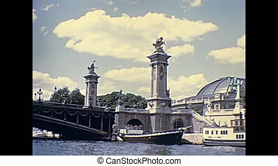 Paris Pont Alexandre III - Paris touristic boat tour on...