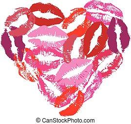 Lipstick Heart - lipstick kisses heart