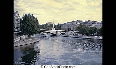 Senna River Paris - Senna river of Paris panorama from Pont...