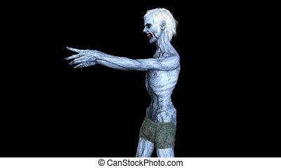 Walking zombie - 3D CG rendering of a walking zombie.