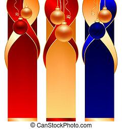 christmas ball banners - christmas ball on three type of...