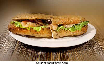 Photo of sandwich with fish