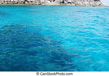 blue sea Similan - Beautiful blue sea from Similan islands...