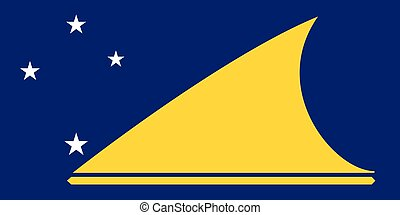 Official vector flag of  Tokelau ( Union Islands ) .