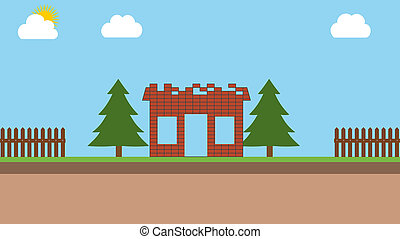 construction of a brick house