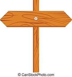 Wood Sign cartoon