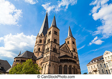 Bonn, Germany - The Bonn Minster, one of Germany's oldest...