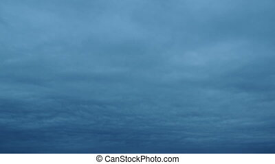 Blue Overcast Clouds on the Horizon
