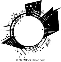 abstract frame - vector abstract frame in black and white