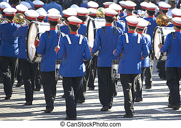 Marching Band - Image of a marching band performing