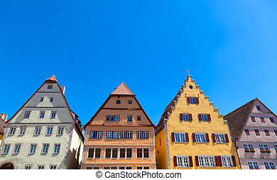 Rothenburg ob der Tauber, Bavaria - Gable Houses in...