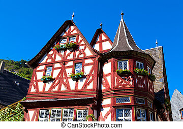 Old Half-timbered House in Bacharach, Germany