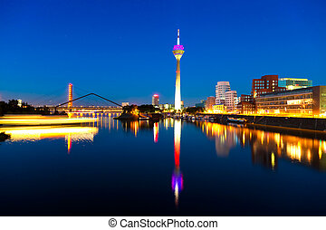 Dusseldorf, Germany - Skyline of the German city Dusseldorf