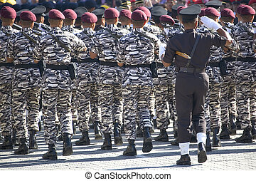 Marching Soldiers - Soldiers from the Malaysian Army foreign...