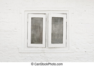 White window and white wall
