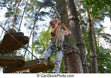 little boy goes on the trail of Tarzan
