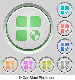 Protect component push buttons - Protect component color...
