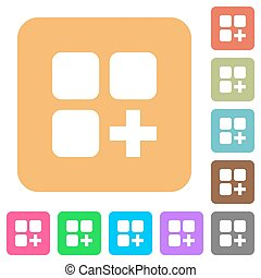 Add new component rounded square flat icons - Add new...