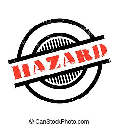 Hazard rubber stamp. Grunge design with dust scratches....