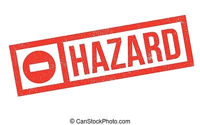 Hazard rubber stamp. Grunge design with dust scratches....