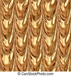 orange bronze draped textile fabric drapery material...