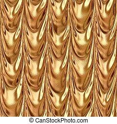 orange bronze draped textile fabric drapery material...