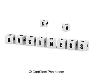 Business cubes - White cubes with the word business isolated...