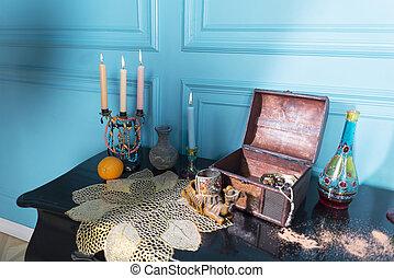 蝋燭,  stele, びん, 胸