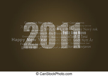 Happy New Year 2011 - A new year card with best wishes in...