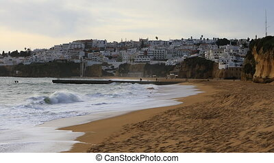View of the beach at Albuferie, Portugal