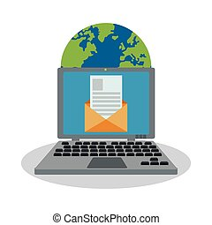 instant messaging related icons image vector illustration...
