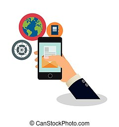assorted cellphone applications related icons image vector...