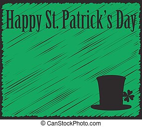 Grunged Happy Saint Patricks Day Green Card
