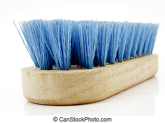 cleaning - wooden scrub brush