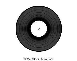 Vynil disc - Black vynil disc with white clean label...