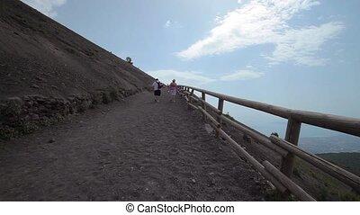 Track Mount Vesuvius. - Movie Mount Vesuvius in Italy. The...
