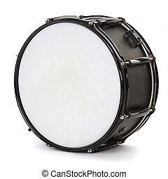 白, ドラム, 隔離された, 背景