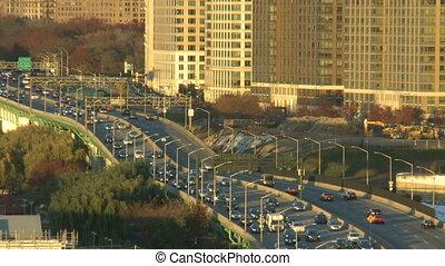 traffic on the boulevard in new york-USA-New York-September...
