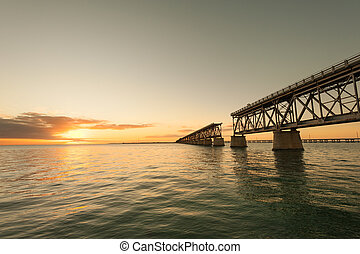 Bahia Honda railroad bridge - Remains of Bahia Honda...
