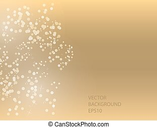 Abstract Sparkling Stars on Golden Holiday Background