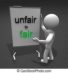 unfair to fair - figure unfair to fair