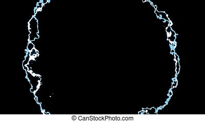 Graphic background with lightning.