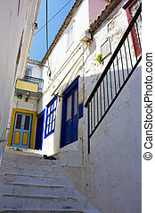 Street Scene at Hydra Island, Greece