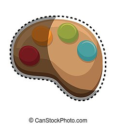 paint pallette isolated icon vector illustration design