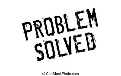 Problem Solved rubber stamp. Grunge design with dust...