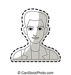 young handsome man icon image - portrait of young handsome...